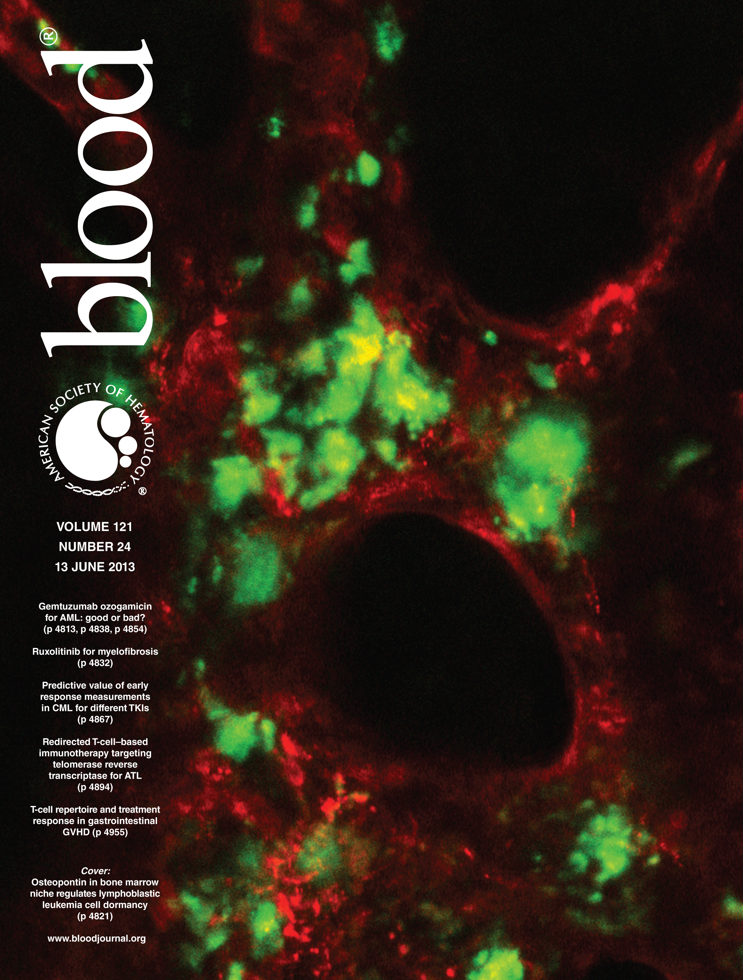 Our work was featured on the cover of Blood!